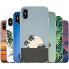 Dessana Palms TPU Silicone Protective Cover Phone Case Cover Summer for Apple