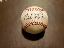 Babe Ruth/Ty Cobb Red Stitched Autographed Baseball Reprint