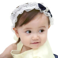 Creative Baby Girl Bowknot Headband Girl Elastic Hairband Lace Hair Accessories~