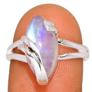 Moonstone - India 925 Sterling Silver Jewelry Ring s.8 BR4652 267B