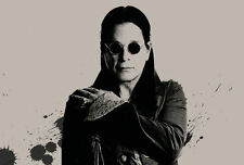 Lámina-Ozzy Osbourne (picture Black Sabbath Heavy Metal Música Arte Bat)