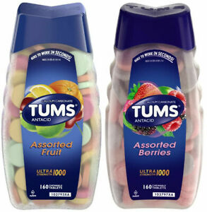 Tums Antacid Ultra Strength Heartburn Relief 140-330 Chewable Tablets