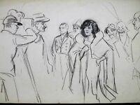 FERNEL GALA UNION des Artistes CIRQUE Frères FRATELLINI Dessin Original vers1925