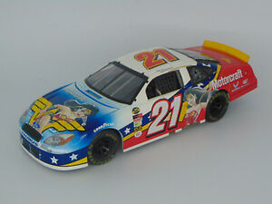 TEAM CALIBER 2004 RICKY RUDD #21 WONDER WOMAN MOTORCRAFT FORD TAURUS NASCAR 1:24