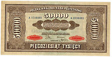 Pologne POLAND Billet 50000 ZLOTYCH 1922 P33  INFLATION XF / AU