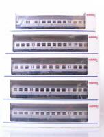MARKLIN 4255 4256 4257 HO - DB SILVERFISH COMMUTER PASSENGER & CONTROL CAR SET