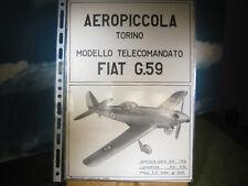 AEROPICCOLA  piani costruttivi FIAT G.59 η.