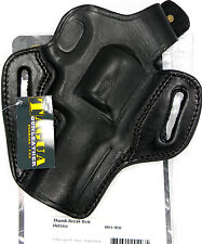 "TAGUA BLACK THUMB BREAK OWB BELT HOLSTER for S&W MODEL 627 4"" REVOLVER"