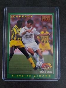 Carte 1995 Zinedine Zidane (ROOKIE) star de demain bordeaux panini