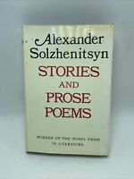 Alexander Solzhenitsyn Stories and Prose Poems Hardcover Dust Jacket 1971 FP