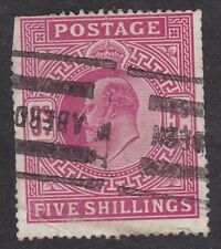 KEVII - 5s - SG263 or 318 - Aberdeen cancellation Used (A2B)