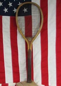 Vintage 1920s Ashland Wood Tennis Racquet Favorite Model Chicago Antique Racket