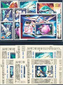 Laos  Mi.Nr. 405-410A, BL53A,54A, BL55A-60A postfrisch**