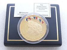 2002 GIUBILEO D'ORO £ 10 Dieci Sterline in oro proof argento 5 OZ (ca. 141.75 g) MEDAGLIA BOX COA