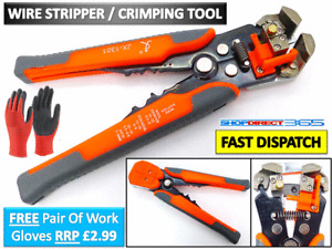 Automatic Cable Wire Crimper Crimping Tool Stripper Adjustable Plier Cutter 2424