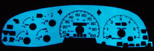 97~98 Ford F150 / Expedition White Blue / Green Glow Gauges Face Overlay