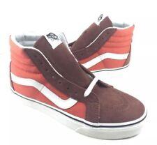 $191 Vans Mens Brown Orange High Hi Tops Canvas Skateboarding Sneakers Shoes 7