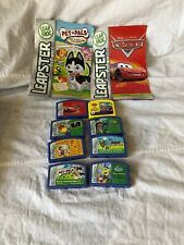 Lot of 8 Leapfrog Leapster Cartridge Games Learning Educational + 2 Instructions