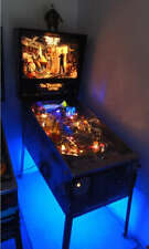 Twilight Zone Roadshow Popeye Shadow Gilligan's Pinball Cabinet light mod BLUE