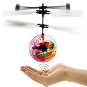 Flying Ball Infrared Induction Crystal Flashing LED Light Toys Christmas Gift