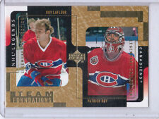 MINT! 2000-01 UD LEGENDARY COLLECTION GOLD #73 LAFLEUR/ROY CANADIENS 066/375