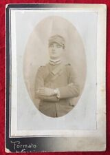 New listing Studio Photograph of a Ww1 Italian Soldier in Uniform Smoking a Cigarette