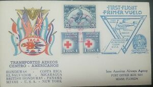 Ro) 1945 HONDURAS, ORCHIDS 21c - UPU, RED CROSS OBLIGATORY ON ALL DOMESTIC OR