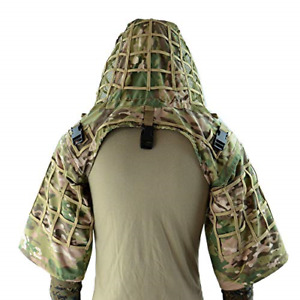 ROCOTACTICAL Sniper Ghillie Suit Foundation, Ripstop, Ghillie Viper Hood, Sniper