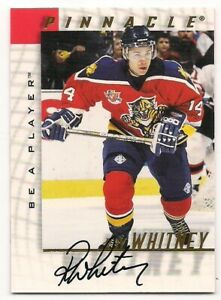 Ray Whitney 97-98 Pinnacle Be A Player Autograph Signature