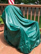 Vinyl 4-Stack Adirondack Chair Cover - Green Durable Outdoor Patio Protection
