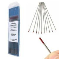 10PCS Set WT20 TIG Welding Thoriated Tungsten Electrode Rods High Conductivity