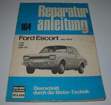Reparaturanleitung Ford Escort MK I 1100 / 1300 / 1300 GT Hunde Knochen bis 1974