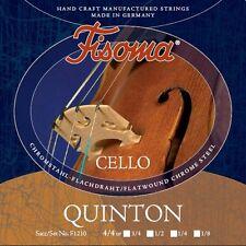 Fisoma QUINTON Violoncello Saiten SATZ in 5 Größen, Cello Strings SET