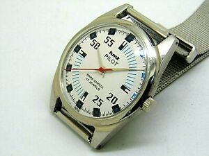 genuine hmt pilot hand winding men steel white dial 17 jewel vintage india watch