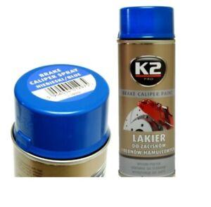 K2 BLUE HIGH GLOSS BRAKE CALIPER PAINT Heat 260°C Resistant Spray Lacquer 400 mL