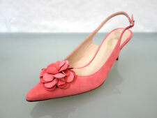 NEU UNÜTZER Leder Riemchen Pumps Sandaletten Gr.40 Shoes Blüte spitze Form Rosa