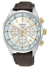 SCNP OS SSB043P1 Seiko Gents Chronograph Date Display Leather Strap Watch