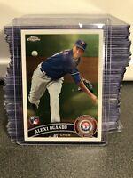 2011 TOPPS CHROME ALEXI OGANDO ROOKIE CARD TEXAS RANGERS RC MLB