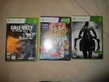 Xbox 360 3 Video Game Lot Call Of Duty Ghosts Darsiders II Kinect Adventures*