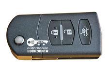 Utiliza Mazda 2 3 5 6 RX8 MX5 3 botón remoto Flip llave Mitsubishi SKE 126-01 126-A1