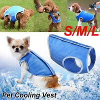Summer Cooling Jacket Coat Vest T-shirt Clothes Dog Cat Puppy Pet Clothing UK