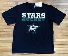 NWT NHL Dallas Stars Hockey Men's Size Large T-Shirt Black Majestic Cool Base