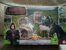 Chronicles of Narnia figures - Destrier & Prince Caspian with Trufflehunter Set.