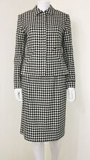 NWT Harold's Black White Houndstooth 100% Wool Pencil Skirt Suit Career Size 4