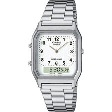 Casio Unisex AQ-230A-7BMQYES Analogue Digital Watch Silver Band Combi RRP£40 WoW