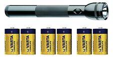 MAG-LITE ST3D016 MAG LED 3 D Cell Taschenlampe Alu schwarz + 6 MONO D Batterie !