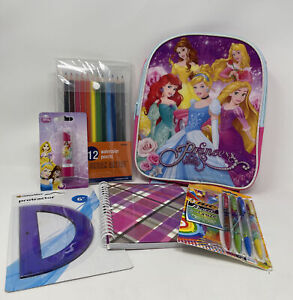 Disney Princess School Supplies & Mini Backpack Bundle- 6 Items