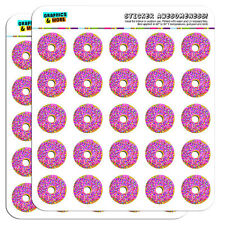 "Pink Donut Sprinkles 1"" Scrapbooking Crafting Stickers"