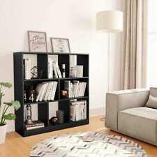 vidaXL Boekenkast Spaanplaat Zwart Kast Boekenstandaard Boekenschap Boekenrek