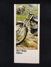 NOS ORIGINAL 1971 AMF HARLEY DAVIDSON BAJA 100 cc AERMACCHI SALES BROCHURE